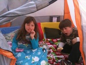 Backyard Camping April 9 2012