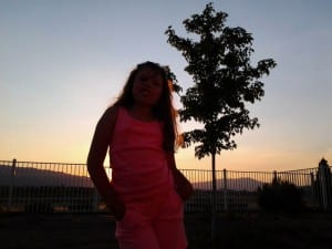 Lillian at Sunset 4.15.14