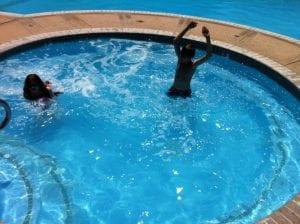 Thomas & Lillian at Pool June 10 2016