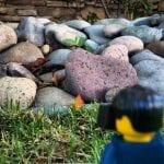 Lego Man minifigure heart rock