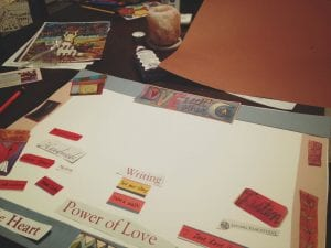 Making Art of Heart's Desire Vision Board 2017