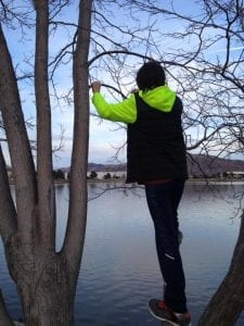 Thomas in Tree at Vintage Lake 2.3.17