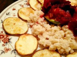 Coconut Rice and Potato Medallions 3.8.17