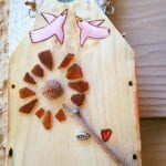 Beach Glass Dandelion Wind Chime 4.14.17 #5