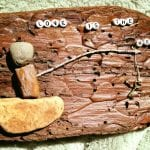 Tree Bark Rock Art Love is the Key April 2017 #1