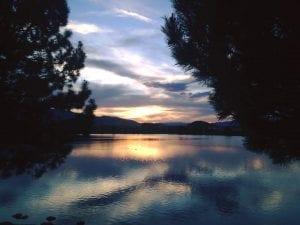 Solo Walk Vintage Lake Sunset 5.5.17