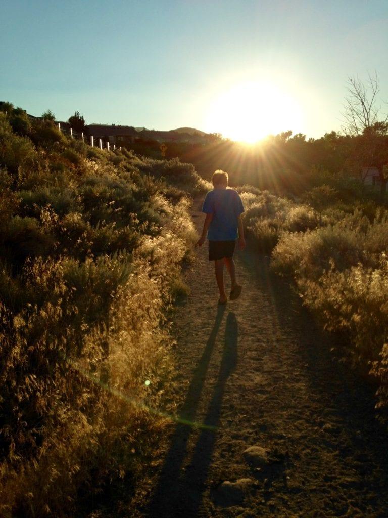 Thomas Walking Bartley Ranch Summer 2016