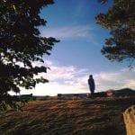 Walk with Lillian Vintage Lake Sunset 6.15.17 #14