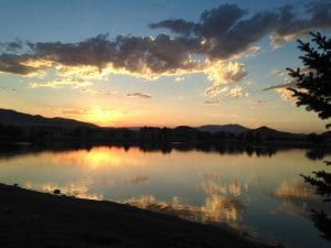 Sunset Walk with Lillian The Vintage Lake 7.31.17 #1