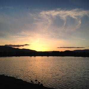 Solo Sunset Walk Vintage Lake Salt Doll Quote May 2017