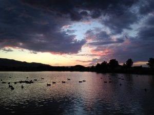Sunset Solo Vintage Lake 8.15.17