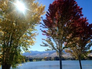 Solo Walk Vintage Lake Fall Trees 10.8.17