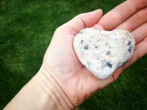 Walk with Lillian Vintage Lake Heart Rock 4.16.17 #1
