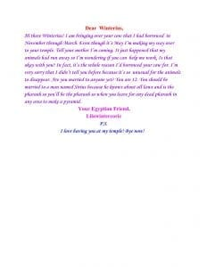 Dear Winterius Letter from Lillian 12.13.13