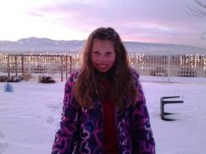 Sunset Snow and Lillian 12.11.13 #2