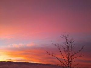 Sunset Snow and Lillian 12.11.13 #3