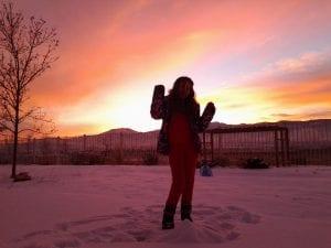 Sunset Snow and Lillian 12.11.13 #4