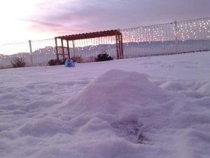 Sunset Snow and Lillian 12.11.13 #5