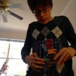 Thomas with Snap Circuits Christmas 2017 12.25.17