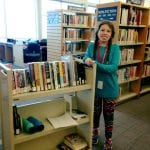 Lillian Volunteering at Library 1.10.18 #1