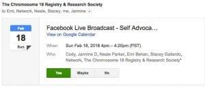 Facebook Live Broadcast C18 2.5.18