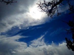 Solo Walk Cloudy Blue Sky Vintage lake 2.22.18