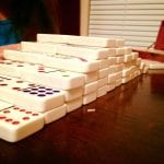 Dominoes with Lillian 2.22.18 #1