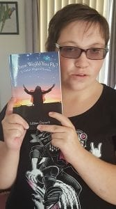 Leesh with Where Would You Fly Book March 2018