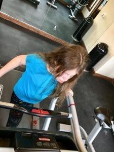 Lillian Walking on Treadmill 3.13.18