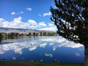 Solo Walk Vintage Lake Reflections 5.14.18