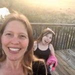 Sunset Walk with Lillian Vintage lake 5.3.18 #10